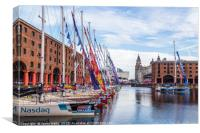 Dare to lead leaves its mooring in Liverpool, Canvas Print
