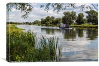 Outskirts of Ely on the River Great Ouse, Canvas Print
