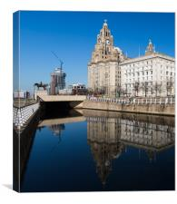 Reflections of the Liver Building, Canvas Print