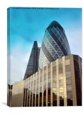 London - New Skyscrapers at Financial District, Canvas Print