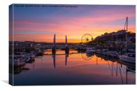 Torquay Harbour Sunset, Canvas Print