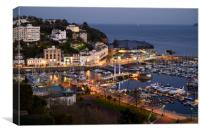 Torquay Harbour By Twilight, Canvas Print