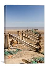 Spurn Peninsula Breakwater, East Yorkshire, Canvas Print