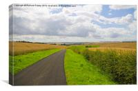 The Yorkshire Wolds at Harvest Time, Canvas Print