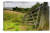 Broken Field Gate, Brubberdale, East Yorkshire, Canvas Print