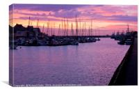 Bridlington Harbour at Sunrise, Canvas Print