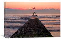 Bridlington South Beach Jetty, Canvas Print