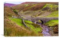 Old Gang Beck, Reeth High Moor, Canvas Print