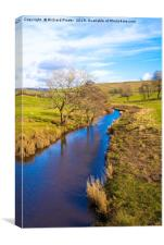 River Bain, North Yorkshire, Canvas Print