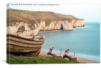 Flamborough North Landing., Canvas Print