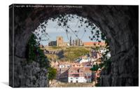 Whitby Abbey and St Mary's Church., Canvas Print