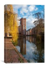 Rowntree Wharf, River Foss, York, Canvas Print