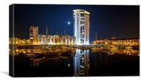 The Tower, Meridian Quay, Canvas Print