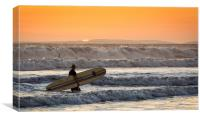 Sunset Surf, Canvas Print