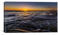 Rest bay sunset, Porthcawl, Canvas Print
