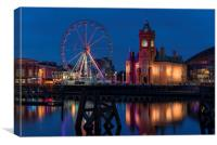 Pierhead Building from across the bay, Cardiff, Canvas Print