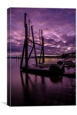 Upnor boat carrier , Canvas Print