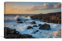 Giant's Causeway Sunset, Canvas Print
