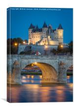 Chateau Saumur - Loire Valley France II, Canvas Print