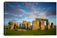 Evening Over Stonehenge, Canvas Print