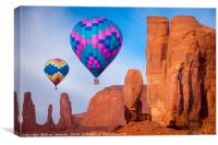 Monument Valley Balloons, Canvas Print