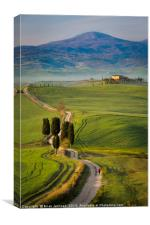 Walking Through Tuscany, Canvas Print