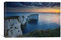 Harry Rocks Sunrise, Canvas Print