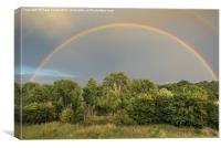 Double Rainbow, Canvas Print
