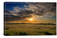 Sunset over Suffolk Countryside, Canvas Print