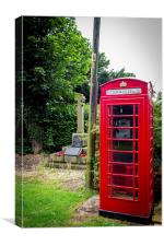 Old Telephone Box, Canvas Print