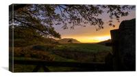 Sheep in A Sunset Over Eskdale, Canvas Print