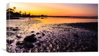 Sun Sets on Bramble Bay, Canvas Print