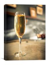 A Touch of Class Champagne, Canvas Print