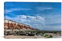 Hunstanton Cliffs., Canvas Print