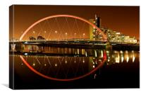 The Clyde Arc at night, Canvas Print