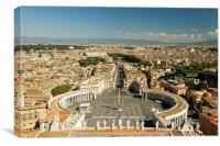 An ariel view of Rome, Canvas Print