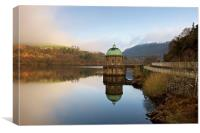 Foel Tower reflections, Canvas Print