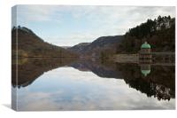 Reflections in the Elan Valley, Canvas Print