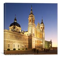 Almudena cathedral Madrid, Canvas Print