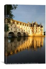 The Chenonceau Chateau, Canvas Print