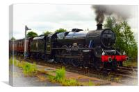 Leander at Hellifield heading 'The Dalesman', Canvas Print