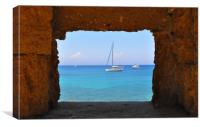 Window with a view, Canvas Print