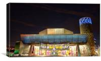 The Lowry Theatre at Salford Quays, Canvas Print