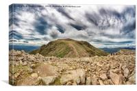The summit of Scafell Pike, Canvas Print