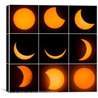 The 9 phases of the solar eclipse, Canvas Print