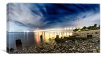 An evening shot of the River Humber , Canvas Print