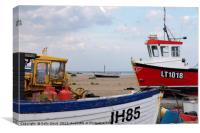 Aldeburgh Fishing Boats, Canvas Print