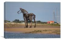 The Lifeboat Horse at Wells-next-the-Sea, Canvas Print