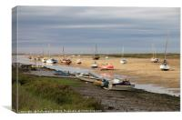 Low tide at Wells-next-the-Sea in Norfolk, Canvas Print