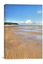 Ripples in the Sand, Wells next the Sea, Norfolk U, Canvas Print